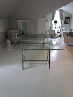 Elegant Chrome Ping Pong Table | LSW   Recreation Space Ideas | Pinterest | Ping  Pong Table, Game Rooms And Room