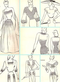 Stitching for Style: Published in 1948, this book is entirely illustrated with line drawings depicting fabric manipulation techniques you can do by hand.