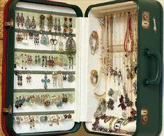 suitcase jewelry organizer