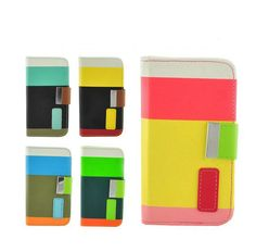 Flip PU Leather Credit Card Pouch W/ Stand For Sumsang i9300 [GD20120426S] - $6.50 : egoodeal, online shopping for wholesale consumer electronics