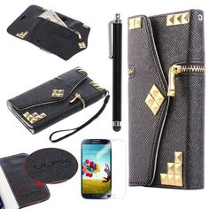 Pandamimi ULAK(TM) PU Leather Wallet Card Holder Type Magnet Design Flip Case Cover for Samsung Galaxy S4 SIV i9500 With Screen Protector and Stylus(cleaning cloth with ULAK Logo), http://www.amazon.com/dp/B00ESXMLTI/ref=cm_sw_r_pi_awdm_p36Xsb17TWGN7