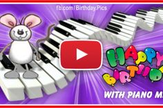 Piano Mice Happy Birthday Video Card For You Free Musical Birthday Cards, Happy Birthday Song Video, Happy Birthday Piano, Funny Happy Birthday Song, Happy Birthday Greetings Friends, Happy Birthday Rose, Happy Birthday Wishes Cards, Happy Birthday Pictures, Happy Birthday Candles