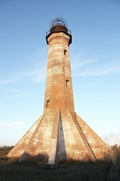 The Abandoned Sabine Pass Lighthouse. Built in 1857. It is at Sabine Lake on the Texas – Louisiana border.