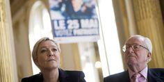"""France. """" Parce qu'il y avait des chambres à gaz à la Trinité ? """" : face-à-face houleux entre Jean-Marie et Marine Le Pen au bureau politique du FN. Avril 2015"""