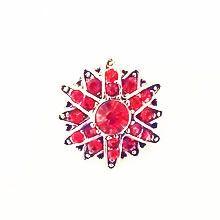ALEXANDRIA RED SNAP JEWEL $6.95 http://www.sparklyexpressions.com/#1019
