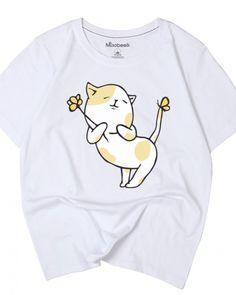 Funny cat t shirts for teenage girls cute animal tops short sleeves