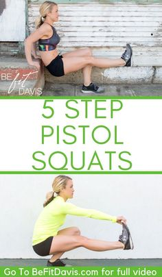 to a pistol squat- pistol squat progression Strength Training Women, Strength Training For Beginners, Pistol Squat Progression, Squat For Beginners, One Legged Squat, No Excuses Workout, Air Squats, Easy Workouts, Beginner Workouts