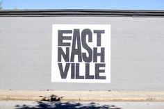 East , Nashville. The best spots in Nashville to take a picture. Murals, walls, restaurants and more! east-nashville-mural