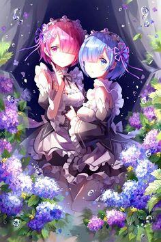 Ram and Rem XD [Re:zero Kara Hajimeru Isekai Seikatsu] Anime Love, Fan Art Anime, Beautiful Anime Girl, Ram Anime, Anime Echii, Anime Girls, Manga Girl, Ram Y Rem, Re Zero Wallpaper