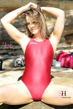 Mighty Alexis of Swimsuit Heaven showing why Asics make the best looking swimsuits available.