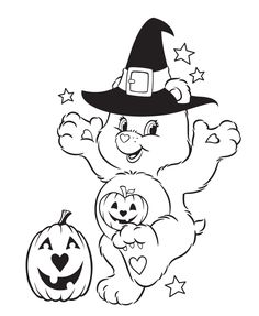 Zoo Coloring Pages, Printable Coloring Pages, Coloring For Kids, Coloring Books, Nightmare Before Christmas, Halloween Coloring Sheets, Pumpkin Drawing, Care Bear Party, Bear Halloween