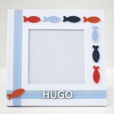 "Image of Crafty Box ""Marco de fotos con peces de fieltro"""