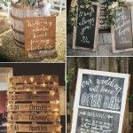 Pretty Budget-Friendly Wedding decorating Ideas-30 Easy-to-Do Rustic Signs