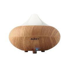 Aukey® Aroma Diffuser Luftbefeuchter Duftzerstäuber Humidifier mit EU-Stecker (Helle Holzmaserung)