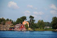 In the Stockholm archipelago. Taken from the ferry between Nynäshamn and Nåttarö