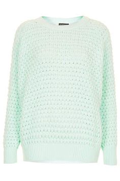 Knitted Chunky Bobble Jumper at TOPSHOP