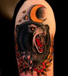 8f691eb4da448cbbc126159515b57131--black-bear-bear-tattoos.jpg (564×632)