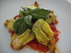 LE  RICETTE DI CHARA: Fiori di zucchine dietetici  ripieni di ricotta e ...