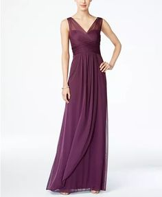 146edd4694d Adrianna Papell Ruched Embellished Gown   Reviews - Dresses - Women - Macy s