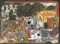 Drug Addled Sadhus. Gouache on paper, Rajasthan, Jodhpur, ca. 1740
