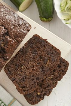 Moist, flavorful zucchini bread with a chocolate twist: dark cocoa in the batter, and chocolate chips studded throughout. Chocolate Zucchini Bread, Zucchini Bread Recipes, Chocolate Chips, Bread Recipe King Arthur, King Arthur Flour, Just Desserts, Dessert Recipes, Summer Desserts, Dessert Bread