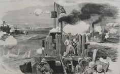 British Nile Gunboat attempts to rescue General Gordon in Khartoum.