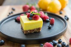 Gluten Free Lemon Squares - I really love Gluten-Free Lemon Squares. They are the perfect dessert. Ultra lemony curd, no-bake Almond & Medjool Date crust made with simple ingredients and, of course, they are also Vegan.