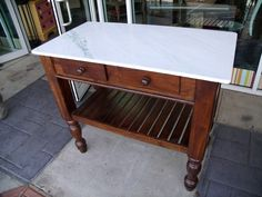 Marble Top Kitchen Island Cart