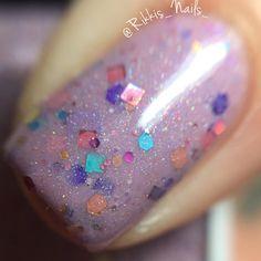 Nouveau! Licorne Love ~ violet paillettes holographiques shimmer crelly 5 vernis à ongles gratuit par MDJ Creations