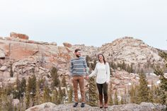Pretty rustic engagement session in the boulder and rock climbing area of Vedauwoo in Medicine Bow National Forest, Wyoming by wedding photographer, Megan Lee Photography based in Laramie, Wy.