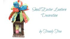 2017 Small Lantern Easter Decoration by Trendy Tree
