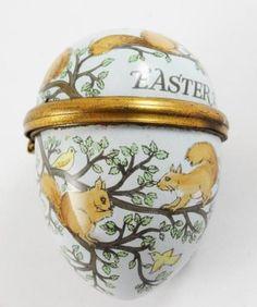 Vintage 1975 Bilston Battersea Enamel Halcyon Days Red Squirrel Easter Egg Box | eBay