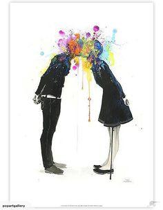 Big Bang Kiss by Lora Zombie Art Print | Trade Me