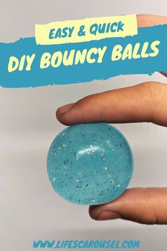DIY Bouncy Balls - Easy Tutorial to Make Super Bouncy Balls! Learn to make your own DIY bouncy balls. This easy tutorial will show you how to make clear super bouncy balls. Just 3 common ingredients! Click Your Own SUPER BOUNCY Glitter Bouncy Balls Easy Diy Crafts, Kids Crafts, Craft Projects, Craft Kids, Creative Crafts, Craft Box, Preschool Crafts, Classroom Crafts, Homemade Crafts