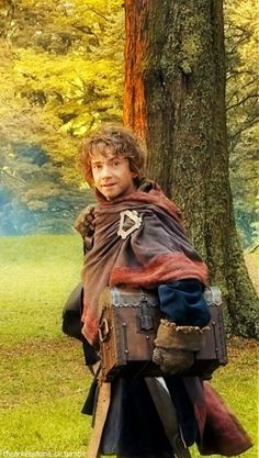 Bilbo Baggins--he's dressed like a dwarf!!