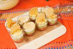 Mexican Party inspiration Cinco De Mayo.  Individual Taco Dip.  Amy Atlas Events.