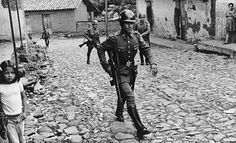 Government militia patrol a village in northern El Salvador during the civil war. Get premium, high resolution news photos at Getty Images Countries In Central America, Countries Of The World, Salvadoran Civil War, El Salvadorian, National Police, Character And Setting, History For Kids, San Salvador, American Revolution
