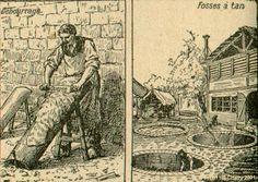 Tanneur ; Tanneur qui enlève la chair des cuirs.