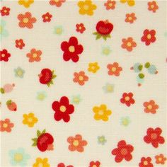 cute cream flower fabric by Riley Blake from the USA