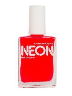 red neon nail polish from american apparel $6