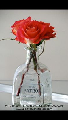 Image result for empty tequila bottle centerpieces