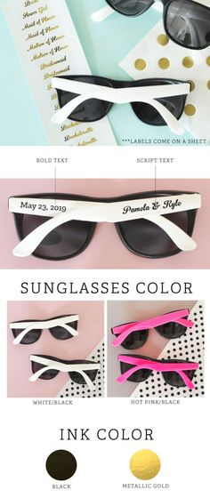 150 Personalized Classic Sunglasses Printed W// Your Logo,Name or Message