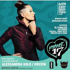 Don't miss @djkhaled @impactsummer exclusive Fashion Show Featuring @kruzinfootwear x @t hedropusa Collection by @alessandragold13 @nonsense305 & @khasamarina I will be walking for this event it's going to be amazing @iamreneeroache @kruzinfootwea r #thedrop #art #fashion #Kruz in #impact17#sneakers #gratefu l #sneakerqueen #djkhaled #sne akerhead #impact17 #alessandra gold For more information on tickets go to www.impact17mia.com | Free admission for Pop up Shop and KRUZIN installation..