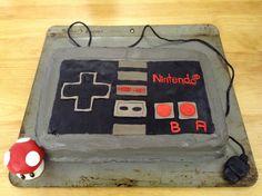 nintedo entertainment system controller cake