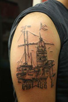 istanbul manzarası dövmeleri  exit tattoo kadıköy