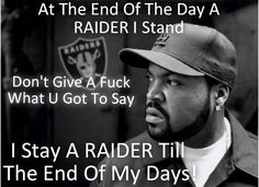 Ice Cube is part of the Raider Nation!