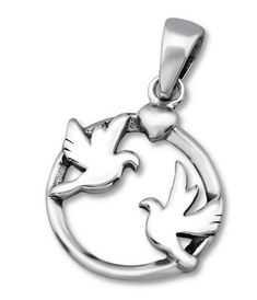Two Dove Sterling Silver Necklace Silver Jewellery Online, Confirmation, Sterling Silver Necklaces, Clip On Earrings, Women Jewelry, Pendants, Peace, Bracelets, Sterling Necklaces