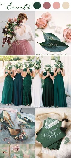14 Dark Green Emerald Wedding Colors & Palettes - - Emerald bridesmaid dresses wedding color palette dutsy rose green wedding spring Source by Emerald Wedding Colors, Emerald Green Weddings, Winter Wedding Colors, Winter Wedding Decorations, Winter Weddings, Emerald Color, Wedding Colors Green, Vintage Wedding Colors, Best Wedding Colors