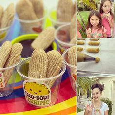 """""""The whole family loved the churros! The kids had so much fun making them and decorating churro cups to give to neighbors."""" Our FALL baking kit teaches kids how to make churros with step-by-step recipe, big piping tip, piping bags, and stickers to make churro cups. #churros #kidsbakingclub #kidsactivities #afterschoolsnack #screenfreekids #kidscooking #kidsbaking #fiestaparty #fallbaking"""