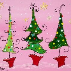 Grinch Christmas Tree Painting Fun 61 Ideas For 2019 Christmas Tree Canvas, Grinch Christmas Tree, Whimsical Christmas Trees, Christmas Tree Painting, Christmas Rock, Winter Christmas, Christmas Decorations, Christmas Ornaments, Painting Holidays